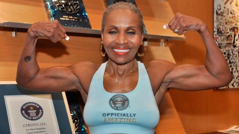 Meet the worlds oldest female bodybuilder who started